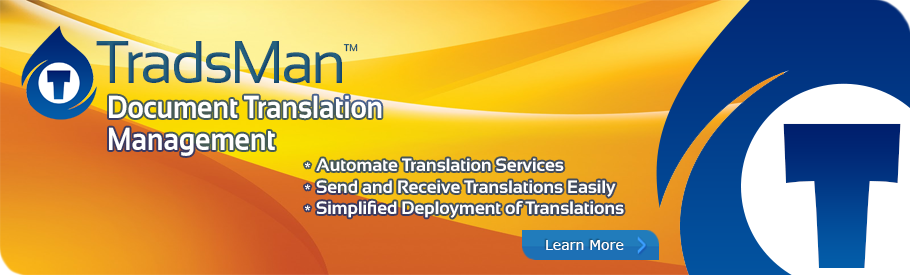 TradsMan™ Document Translation Management solution for SharePoint™.